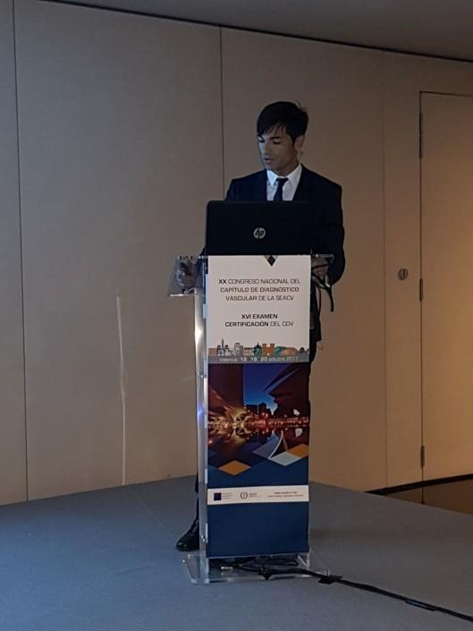 Dr Álvaro Torres Blanco en el Congreso del CDV